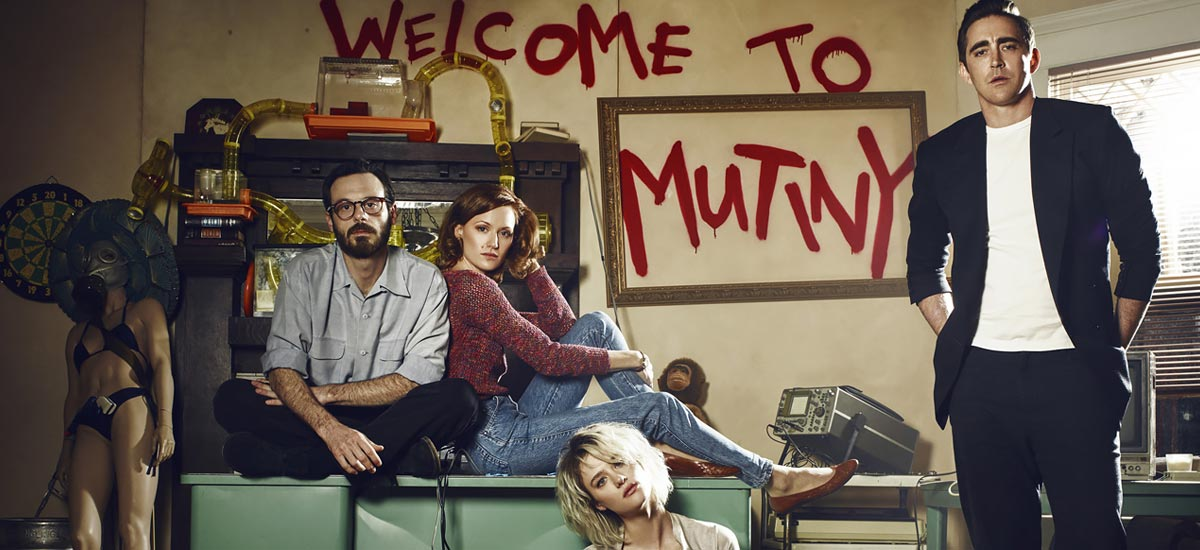 The cast of Halt and Catch Fire