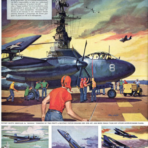 1950s/60s war & sci-fi magazine illustrations