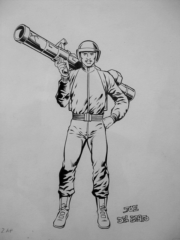 "Details about  Herb Trimpe Original GI JOE comic art ""ZAP"" from G.I. JOE ORDER OF BATTLE!"