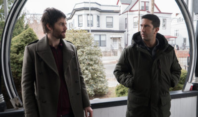 Jim Sturgess and David Schwimmer in Feed the Beast