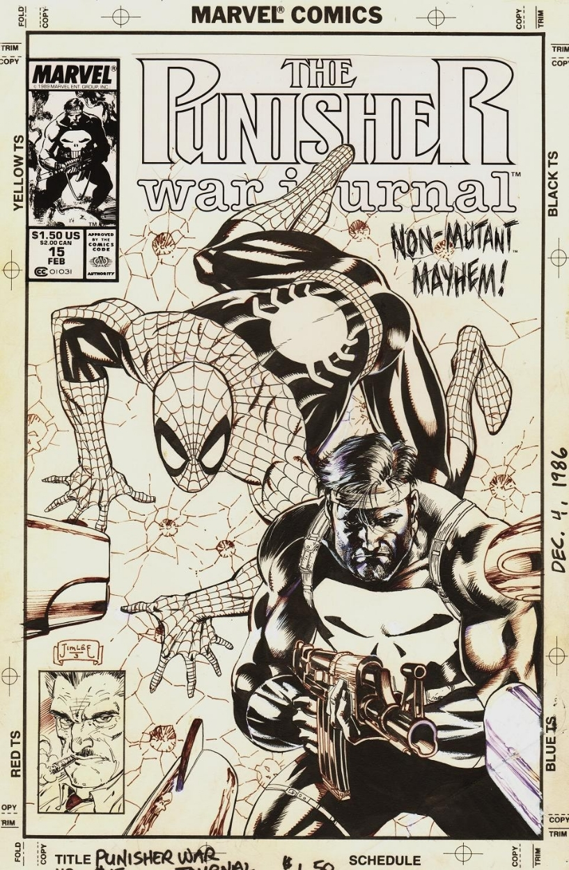 Punisher Satutday: Jim Lee Punisher War Journal #15 art ...