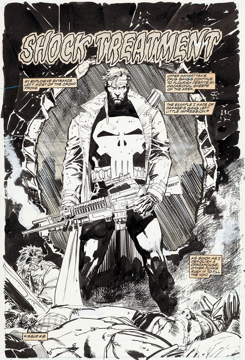 Punisher Saturday: Jim Lee Punisher War Journal interior ...