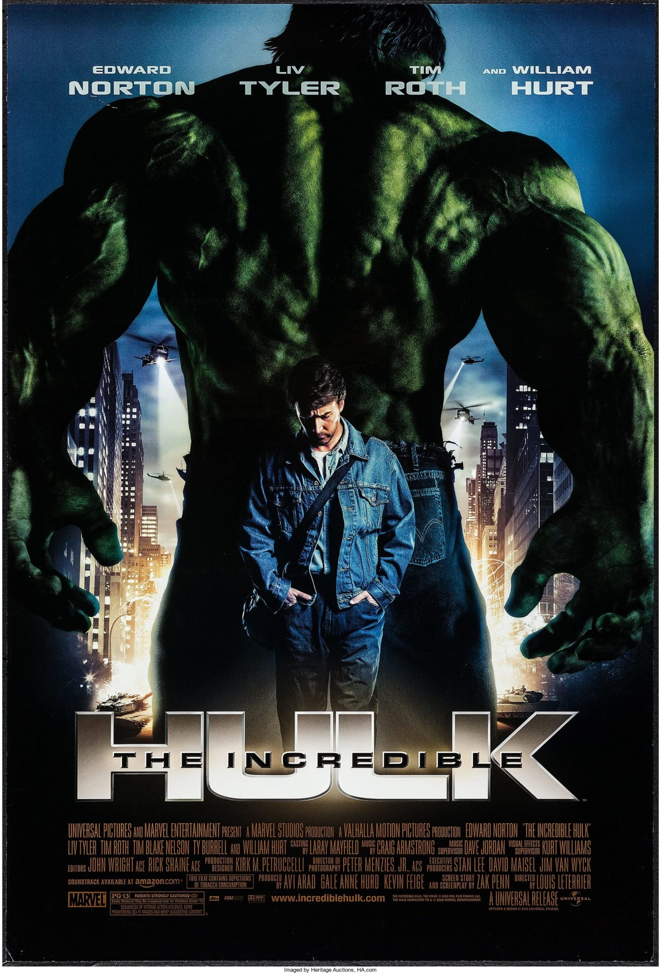 The Incredible Hulk (2008) movie poster - Dangerous Universe