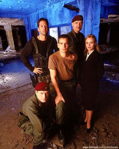 The cast of Harsh Realm