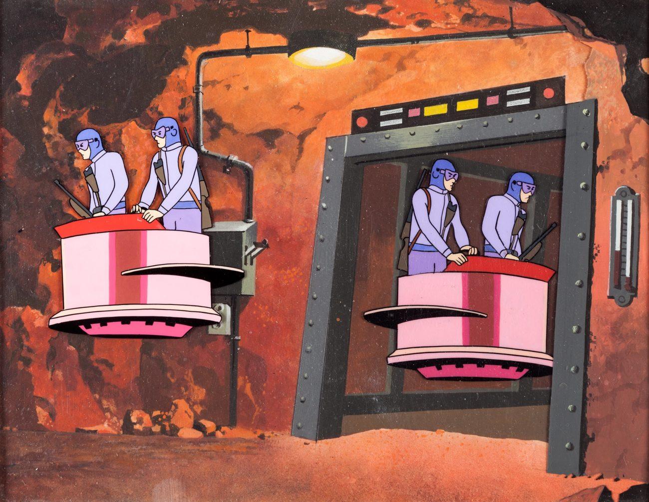 Jonny Quest (1964) animation cell & background - Dangerous ...