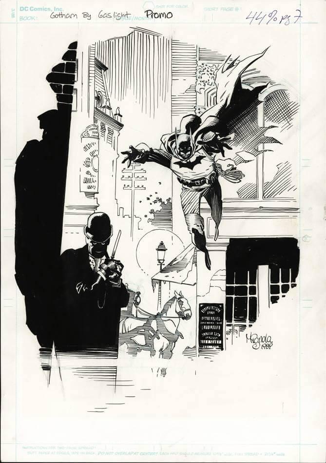 Mike Mignola Batman Gotham By Gaslight Drawing Dangerous Universe
