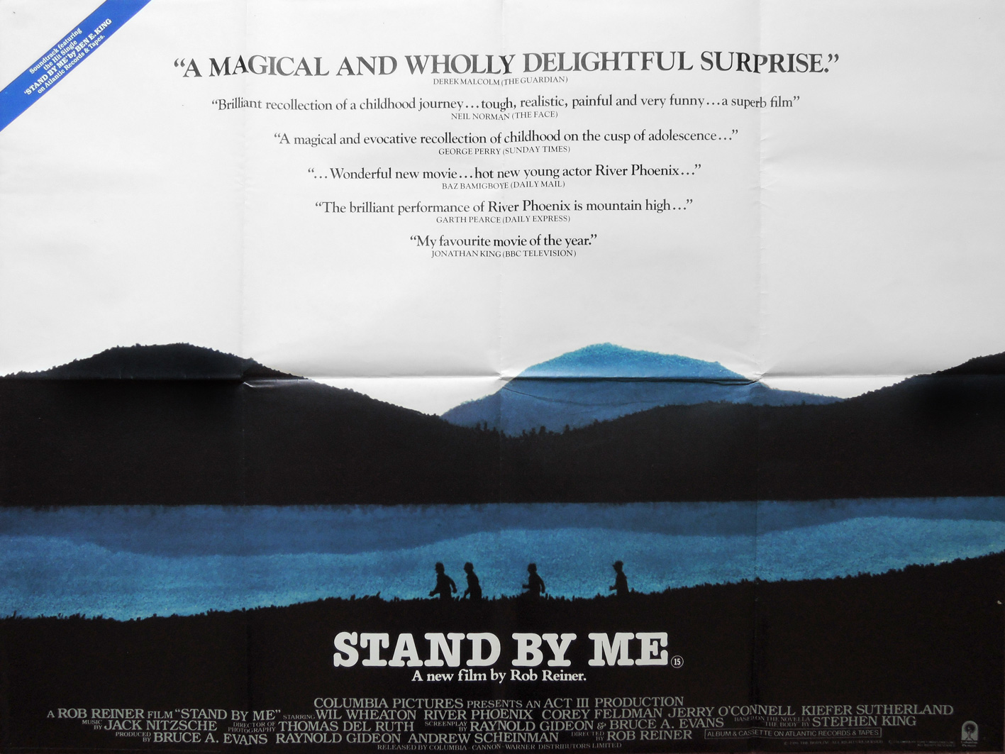 Stand By Me (1986) British quad poster – Dangerous Universe